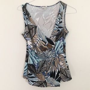 Cache Topical print sleeveless top
